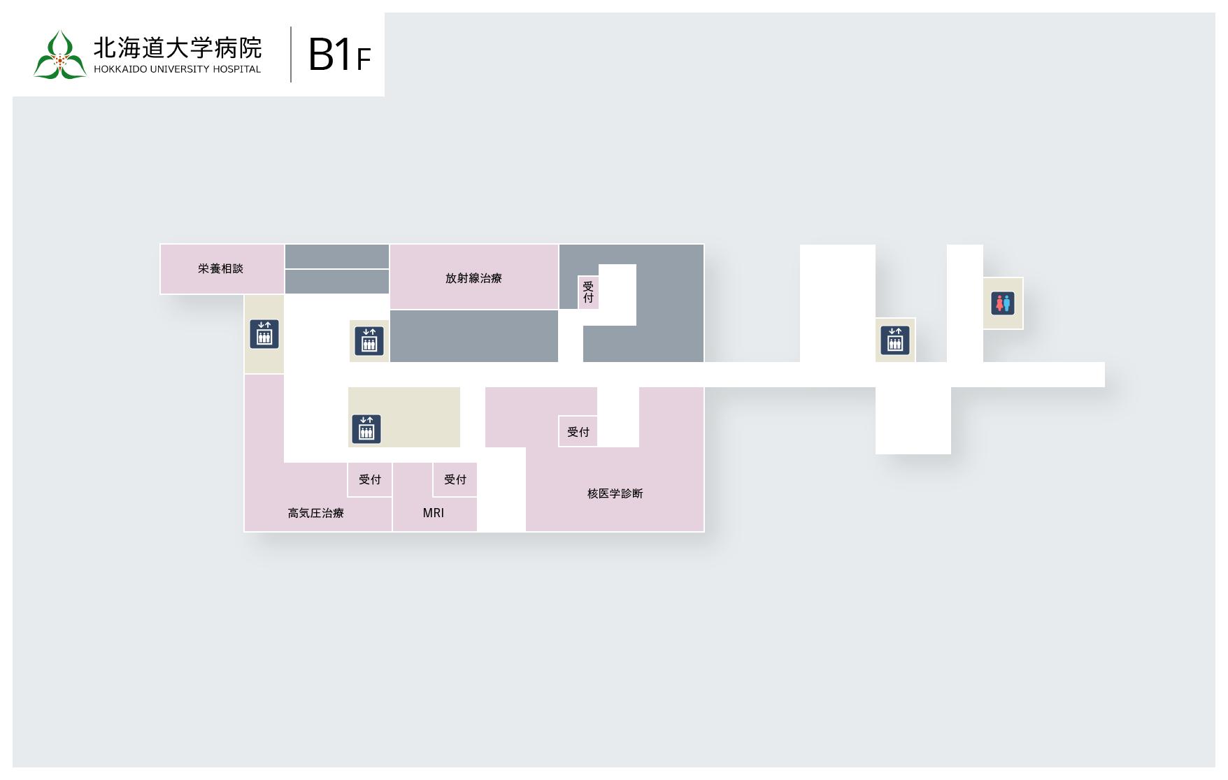 B1Fのマップ