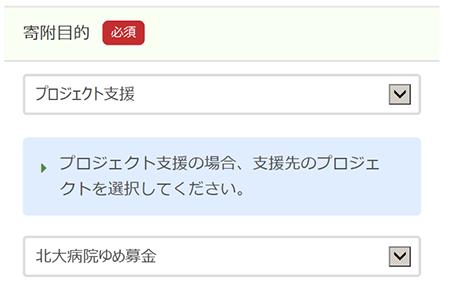 寄附申込フォームイメージ画像